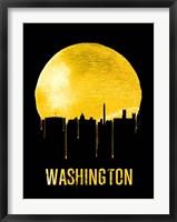 Framed Washington Skyline Yellow