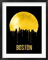 Framed Boston Skyline Yellow