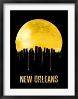 Framed New Orleans Skyline Yellow
