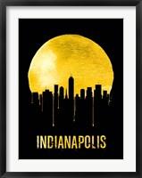 Framed Indianapolis Skyline Yellow