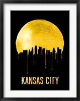 Framed Kansas City Skyline Yellow