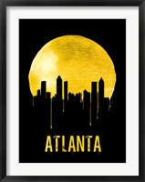Framed Atlanta Skyline Yellow