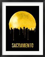 Framed Sacramento Skyline Yellow
