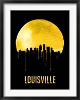 Framed Louisville Skyline Yellow