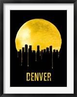 Framed Denver Skyline Yellow