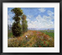 Framed Meadow with Poplars
