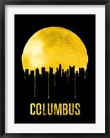 Framed Columbus Skyline Yellow