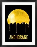Framed Anchorage Skyline Yellow