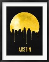 Framed Austin Skyline Yellow