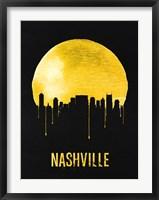 Framed Nashville Skyline Yellow