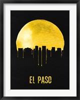 Framed El Paso Skyline Yellow