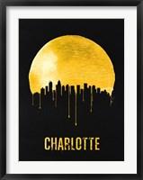 Framed Charlotte Skyline Yellow