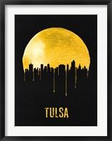 Framed Tulsa Skyline Yellow