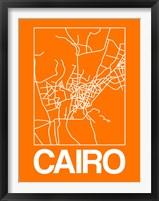 Framed Orange Map of Cairo
