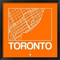 Framed Orange Map of Toronto