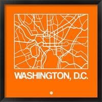 Framed Orange Map of Washington, D.C.