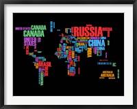 Framed Typography World Map 1
