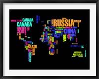 Framed Typography World Map 2