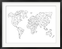 Framed World Wire Map 5