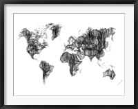 Framed World Map Drawing 1