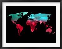 Framed Polygon World Map 2