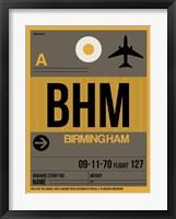 Framed BHM Birmingham Luggage Tag I