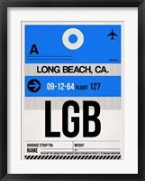 Framed LGB Long Beach Luggage Tag I