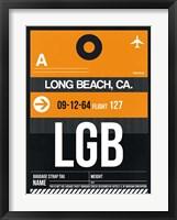 Framed LGB Long Beach Luggage Tag II