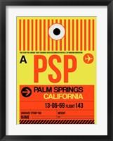 Framed PSP Palm Springs Luggage Tag I