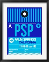 Framed PSP Palm Springs Luggage Tag II