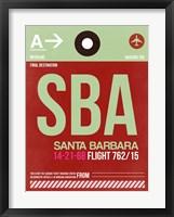 Framed SBA Santa Barbara Luggage Tag II