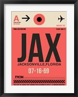 Framed JAX Jacksonville Luggage Tag I