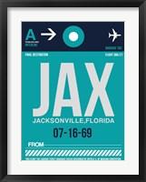 Framed JAX Jacksonville Luggage Tag II