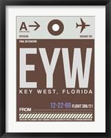 Framed EYW Key West Luggage Tag II