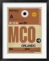 Framed MCO Orlando Luggage Tag I
