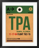 Framed TPA Tampa Luggage Tag I