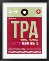 Framed TPA Tampa Luggage Tag II