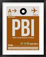 Framed PBI West Palm Beach Luggage Tag II