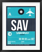 Framed SAV Savannah Luggage Tag II