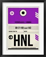 Framed HNL Honolulu Luggage Tag I