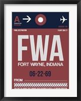 Framed FWA Fort Wayne Luggage Tag II