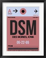 Framed DSM Des Moines Luggage Tag I