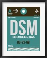 Framed DSM Des Moines Luggage Tag II