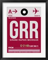 Framed GRR Grand Rapids Luggage Tag II