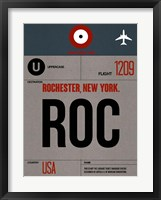 Framed ROC Rochester Luggage Tag I