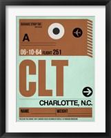 Framed CLT Charlotte Luggage Tag I