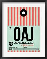Framed OAJ Jacksonville Luggage Tag I