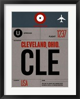 Framed CLE Cleveland Luggage Tag I