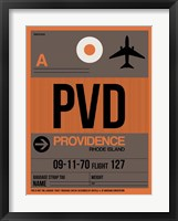 Framed PVD Providence Luggage Tag I