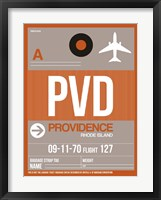 Framed PVD Providence Luggage Tag II